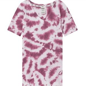 NWOT VS Pink tie dye perfect v neck